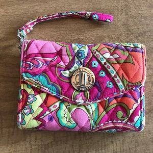 Vera Bradley Pink Swirls Wristlet